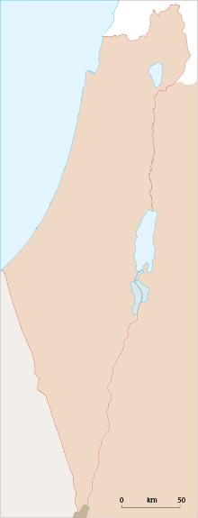 ארכובית ארץ-ישראלית - מפת תפוצה