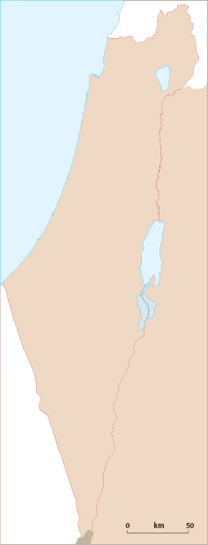 מפת ישראל Map of Israel